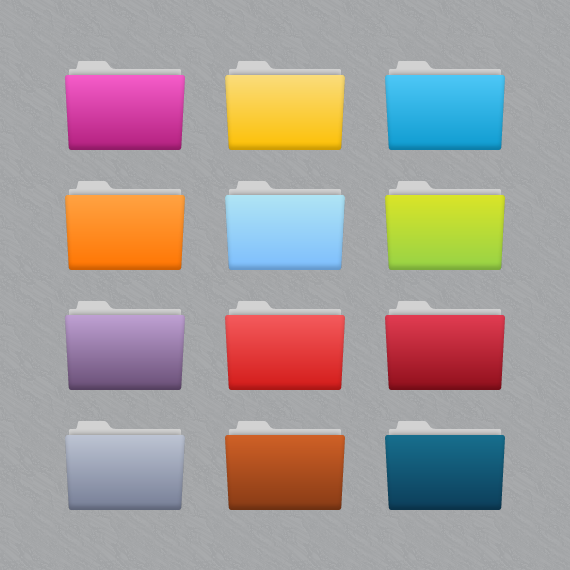 how to make folders different colors on mac