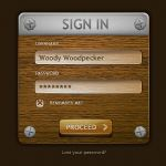 Wooden Login Form