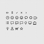 Simple vector icon set