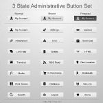 3 State Administrative Button Set