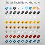 Tagged Social Networking Icons