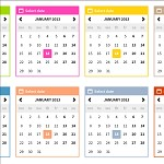 Colored popup calendars