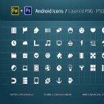 Android Icons - PNG, PSD, SHAPE