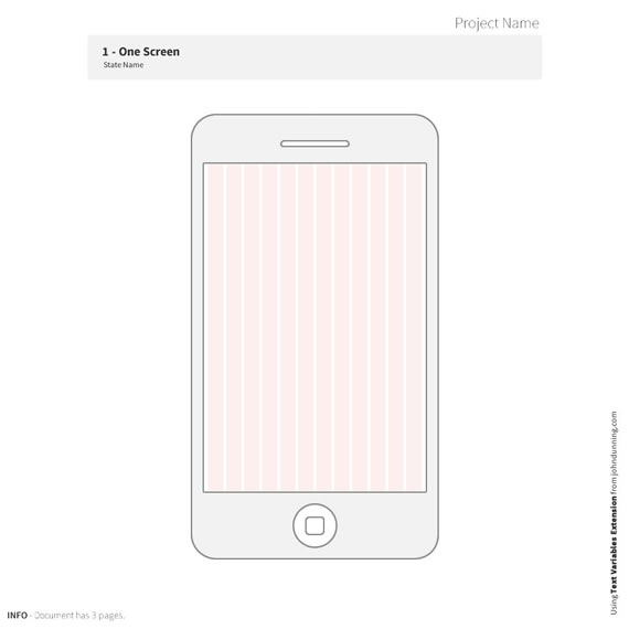 simple 320px mobile wireframe template webportio graphical resource of adobe fireworks. Black Bedroom Furniture Sets. Home Design Ideas